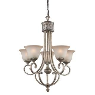 Woodbridge Lighting 5-light Coppertone Silver Chandelier