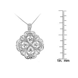 Sterling Silver Clear Cubic Zirconia Necklace