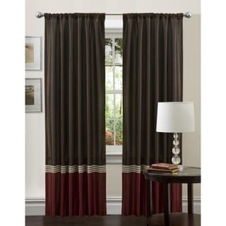 Lush Decor Red 84-inch Villagio Curtain Panel