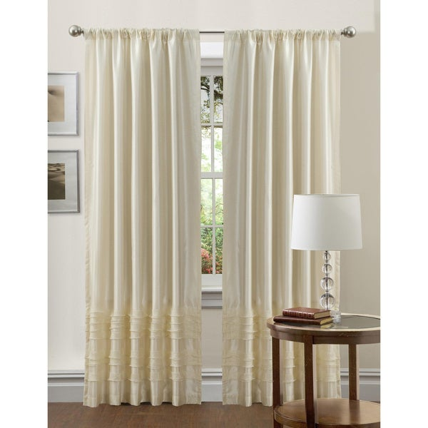 Lush Decor Ivory 84-inch Paloma Curtain Panel