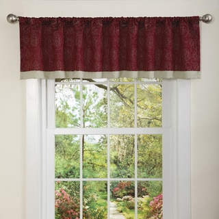 Lush Decor Red Flourish Valance