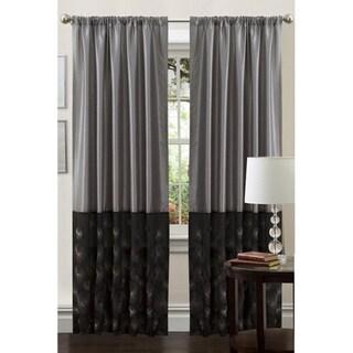 Lush Decor Black/ Silver 84-inch Ovation Curtain Panel
