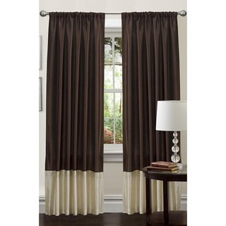 Lush Decor Brown 84-inch Flourish Curtain Panel