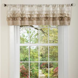 Lush Decor Neutral Starlet Valance