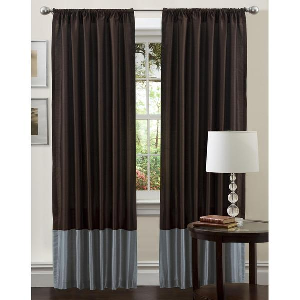 Lush Decor Blue 84-inch Cocoa Flower Curtain Panel
