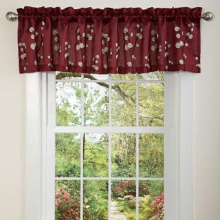 Lush Decor Red Cocoa Flower Valance
