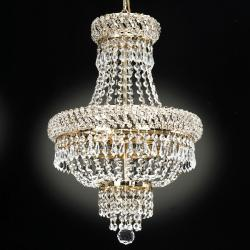 Empire Goldtone Crystal 3-light Chandelier