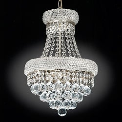 Empire Silvertone Crystal Three-Light Indoor Chandelier