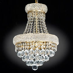 Empire Goldtone Crystal 3-Light Indoor Chandelier