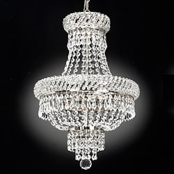 Empire Silvertone Crystal 3-Light Chandelier