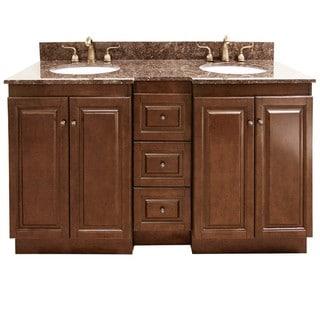 Double Sink Vanity 60 : Granite Top 60-inch Double Sink Bathroom Vanity - Overstock Shopping ...