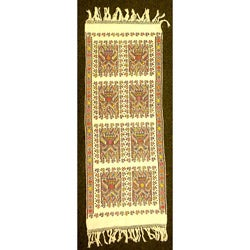 Traditional Cotton Backstrap Woven Mayan Tapestry (Guatemala)