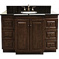 Granite-Top 48-Inch Single-Sink Bathroom Vanity with Antique Brass Hardware