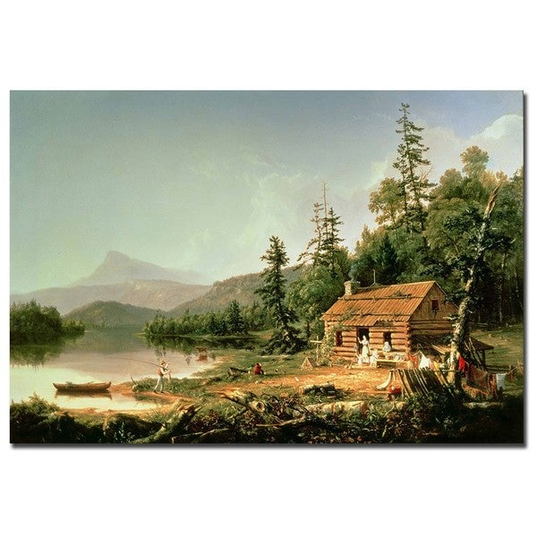 Thomas Cole 'Home in the Woods, 1847' Canvas Wall Art