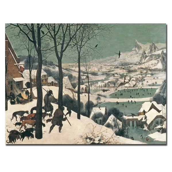 Pieter Bruegel 'Hunters in the Snow, 1565' Canvas Art