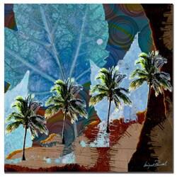 Miguel Paredes 'Blue Palms V' Canvas Art