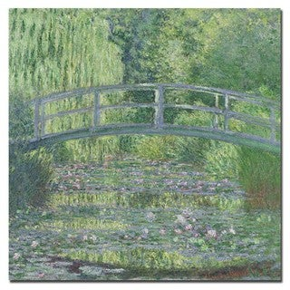 Claude Monet 'The Waterlily Pond 1899' Canvas Art