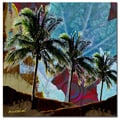 Miguel Paredes 'Wine Palms II' Canvas Art