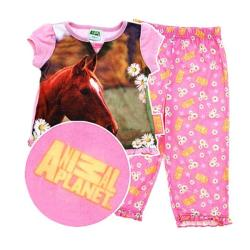 Animal Planet Girl's 3-Piece Horse Pajama Set