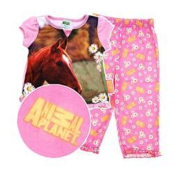 Animal Planet Girl's 3-Piece Horse Pajama Set