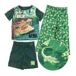Animal Planet Boy's 3-piece Alligator Pajama Set