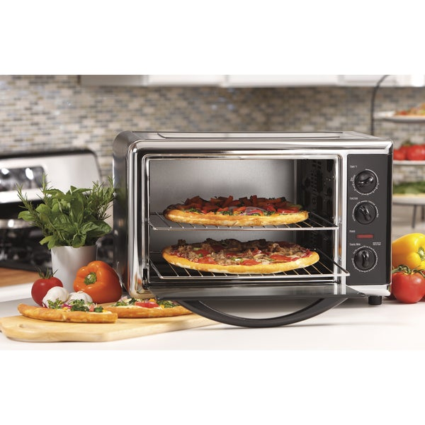 Hamilton Beach Black Countertop Oven with Convection and Rotisserie 8212516