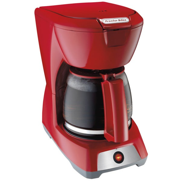 Proctor Silex 43603 12-Cup Red Coffee Maker