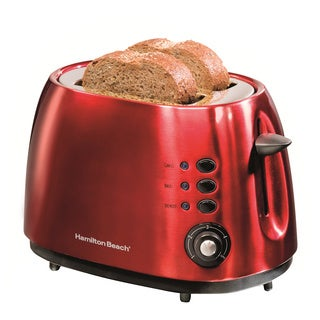 Hamilton Beach 22524E Cherry Red 2-slice Toaster