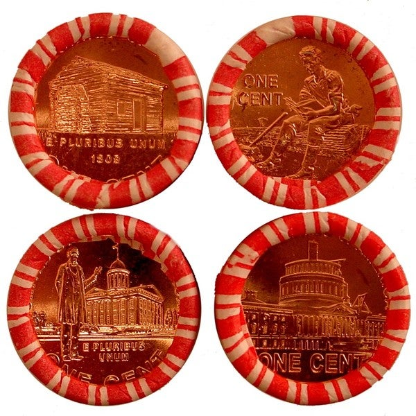 Complete 2009 Lincoln Penny Roll Set
