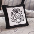English Laundry Bury Black Velvet Decorative Pillow