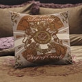 English Laundry Cheadle Hand-painted Decoratvie Pillow