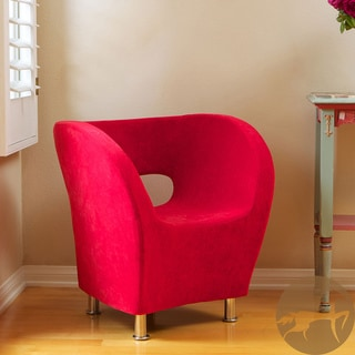 Christopher Knight Home Modern Red Microfiber Accent Chair