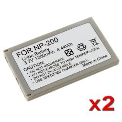 Li-ion Battery for Konica Minolta NP-200 and DIMAGE X/ XG/ XT (Pack of 2)