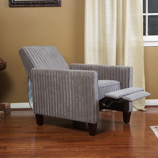 Grey Stripe Recliner Club Chair