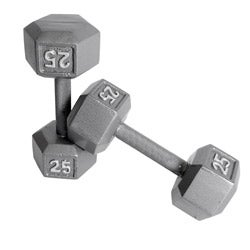 CAP Barbell 25 lb Pair of Hex Dumbbells (Set of 2)