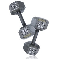 CAP Barbell 30 lb Pair of Hex Dumbbells (Set of 2)