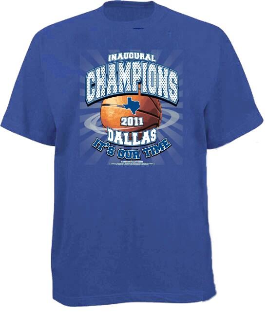 Men's 'Inaugural Champions' Blue Dallas Basketball T-shirt