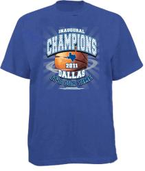 Men's 'Inaugural Champions' Blue Dallas Basketball T-shirt