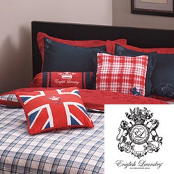 English Laundry Stock Port King-size 3-piece Duvet Cover Set