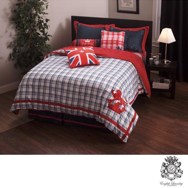 English Laundry Stock Port King-size 3-piece Duvet Cover Set