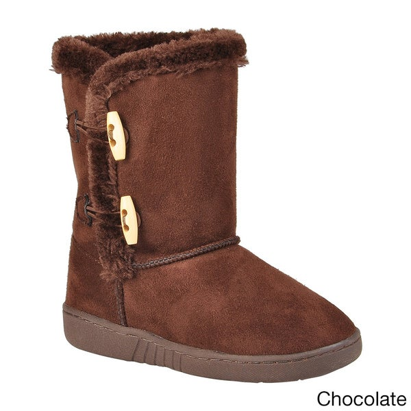 Journee Kids Girl's 'H3' Side Toggle Accent Boots