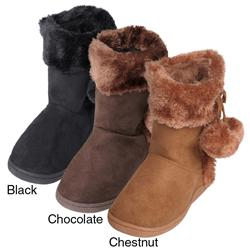 Journee Kids Girl's 'Haily' Toggle Accent Boots