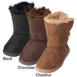 Journee Kids Girl's 'Ktogle' Wood Toggle Accent Boots