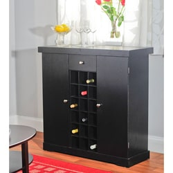 Black Wine Storage Cabinet