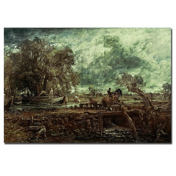 John Constable 'Study for the Leaping Horse, 1824' Gallery-wrapped Canvas Art