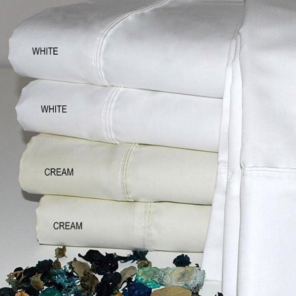 Luxor Treasures Egyptian Cotton 800 Thread Count Oversized Solid Sheet Set