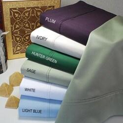 Simple Elegance Egyptian Cotton 400 Thread Count Solid 3-piece Duvet Set