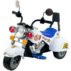 Lil' Rider White Knight Three Wheeler Motorcycle Ride-on