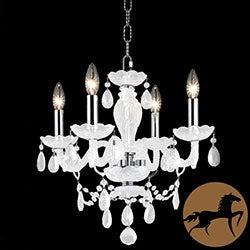 Christopher Knight Home Crystal Four-Light 40-Watt White Chandelier
