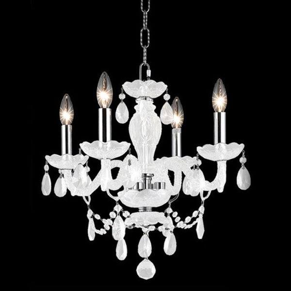 Somette Four-Light 40-Watt White Chandelier